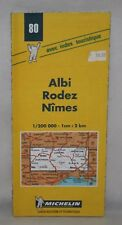 France - Michelin 1:200,000 Map - Albi, Rodez, Nimes - Sheet 80 - 2000