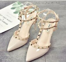 Women's rivet pointed high heels sexy increased buckle shoes stiletto shoes