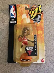 1998 Mattel NBA Jams Court Collection Michael Jordan Red Jersey Unopened