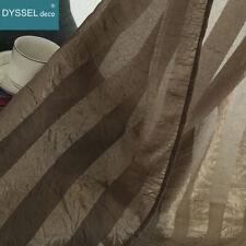 Pairs home white grey Stripe crushed fabric Home decorative Sheer window Curtain