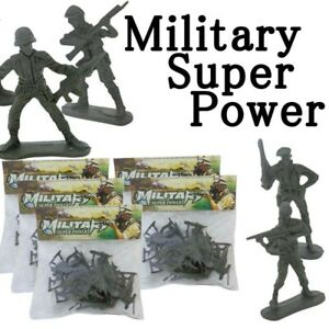 100 Pcs Super Power Toy Soldiers Plastic Military Toy Army Men Figures