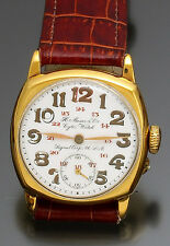 Gold-Filled Cushion Military U.S. Signal Corps H. Moser & Cie. Watch CA1930s