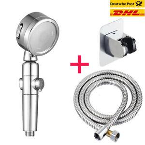 Duschkopf Hochdruck Handbrause Set EIN/AUS Schalter Wasserspar Kopfbrause DE