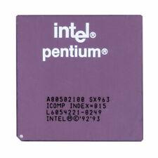 CPU et processeurs Intel 100 MHz