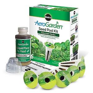 AeroGarden Gourmet Herb Seed Pod Kit - 6 Pods - New Sealed