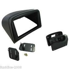 CT23PE08 PEUGEOT 206 1998 to 2009 BLACK DOUBLE DIN FACIA ADAPTOR PANEL ADAPTER