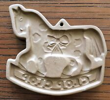 Vintage Country Gear Hartstone Pottery Clip Clop Horse Cookie Mold