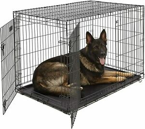 MidWest Homes for Pets Dog Crate iCrate Single Door & Double Door Folding 48 in