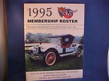 membership ROSTER--1995 POCI Pontiac Oakland Club International Smoke Signals