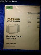 Sony Bedienungsanleitung KV E2561D / E2961D Color TV (#2002)