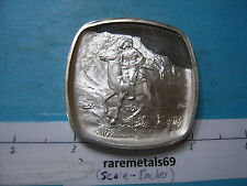 4.1 OZ THE SCOUT OLD WEST SERIES SILVER REMINGTON LINCOLN MINT VERY RARE