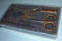Dr Slick Fly Tying Tool Kit Scissors Bobbin Bodkin Hackle Pliers Gift Set TYER