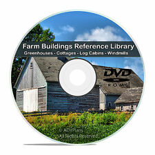 Farm Buildings Barns Cottage Cabin Tools Greenhouse Windmill Energy CD DVD V76
