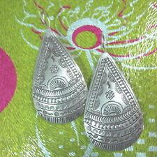 Fine Silver Sterling 925 Earrings Tribal Water Drop Tibet Styles Women Jewelry