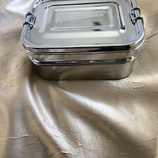 Stainless Steel 3 in 1 Bento Lunch Box With Pod Insert Holds 6 Cups Eco Safe...