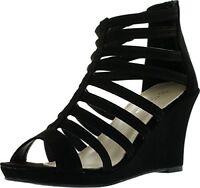 NEW Women's Zipper Open Toe Strappy Platform Heel Wedge Sandal shoes Size 6 - 10