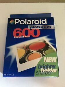 Polaroid 600 Platinum Instant Film New Sealed 10 Photo's Exp 1998  Free Shipping