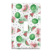 Watercolor Watermelons Pattern Wall Light Switch Plate Cover