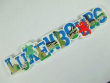 Luxemburg Luxembourg großer 3 D Magnet Buchstaben,Rubber Souvenir,Neu