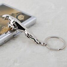Classic 3D jaguar leopard animal Model Keychain Key Chain Ring Keyring Zinc