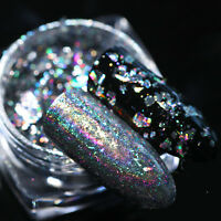 0.2g Born Pretty Holographic Silver Flakes Bling Nail Sequins Mirror Glitter DIY