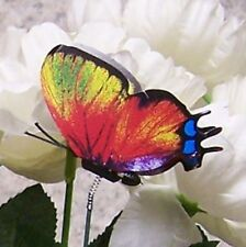 """Garden Decor Flower Pot Plant Pick Stake Colorful Butterfly NEW 12"""" tall #17"""