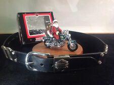 Vintage Harley Davidson Belt with Single Crystal Stud + New Haley Santa Ornament