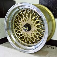 "15x6/7/8/9"" BLANK OS FORMULA MESH WHEELS SUIT MOST OLD SCHOOL 4 OR 5 STUD CARS"