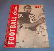Official Collegiate Football Guide 1977 Notre Dame Ross Browner