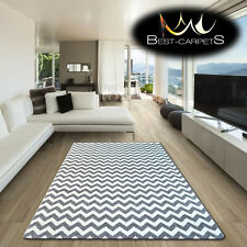 AMAZING THICK MODERN RUGS SKETCH Zig Zag GREY WHITE F561 LARGE SIZE BEST-CARPETS