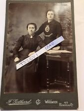 Victorian Cabinet Card 2 Women One Salvation Army Top Woolwich Card