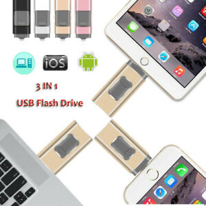 3 IN 1 USB Memory Stick Flash Drive OTG Disk Lightning 512GB For iPhone iOS LOT