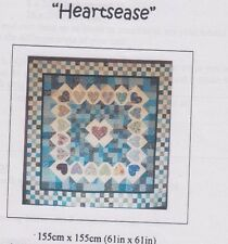 CLEARANCE - Heartsease - applique & pieced quilt PATTERN - Kate & Belinda Quilts