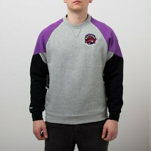 Mitchell & Ness NBA Toronto Raptors Trading Block Crew Men's Grey Sportswear Top