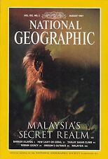 National Geographic August 1997 - Barrier Islands, Coral, Thalay Sagar, Malaysia