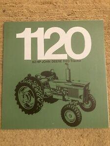 John Deere 1120 Tractor Brochure Leaflet