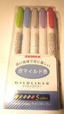 Zebra NC5 5 Colors WKT7-5C-NC Resaltador Suave Forro Importación de Japón