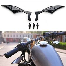 Custom Universal Motorcycle Black Spear Blade Rearview Mirrors for Touring Honda