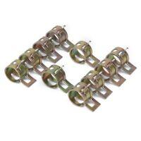 10 x Clip a Ressort Colliers de Serrage pour Tuyau de Carburant Conduite d'ea XH