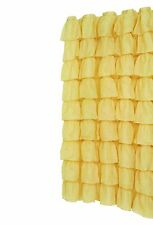 """""""Carmen"""" Gold ruffled tier 100% polyester fabric shower curtain, size 70""""x72"""""""