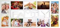 Collage Foto-Rahmen Family für 10 Fotos 10x15 Multishot