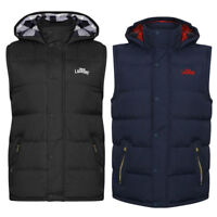 Mens Tokyo Laundry Mc Crooke Quilted Flannel Lined Bodywarmer Gilet Size S-XL