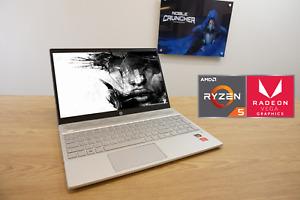 "HP Cheap Gaming Laptop 15.6"" Ryzen 5 Quad Core Vega 8 GPU 16GB RAM 128GB SSD"