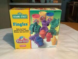 Vintage Playskool Play-Doh Fingles Sesame Street Elmo Cookie Monster Bert Ernie