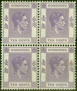 Hong Kong 1945 10c Dull Violet SG145a P. 14.5 x 14 Fine Lightly Mtd Mint & MN...