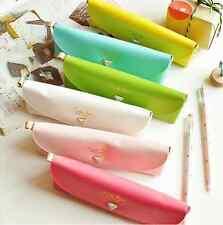 Cute Pretty Colourful Pastel Diamond popper Stationary Pencil case Make up bag