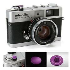Selens PURPLE 9mm CONCAVE Soft Release Shutter Button for Fuji X-E2 XT10 x100t