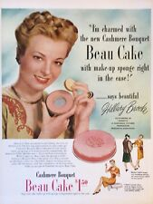 Original 1949 Print Ad BEAU CAKE Make-Up Cashmere Hillary Brooke