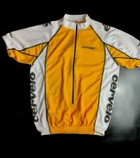 Men's Cervelo team cycling jersey, Size M color yellow