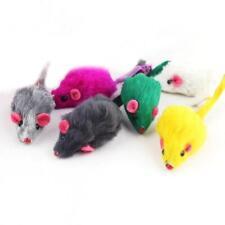10Pcs Rabbit Fur False Mouse Pet Cat Toys Feather Rainbow Ball Funny Play Mice